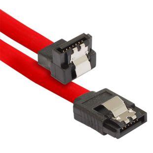 Poppstar 1x 0,5m S-ATA 3 Kabel (Stecker gerade auf gewinkelt), rot - Bild 1