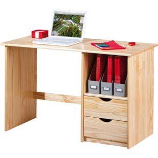 Inter Link Schreibtisch Sinus neu farblos 2 Schubladen - Bild 1