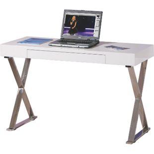 Inter Link Schreibtisch Grace Weiß/Chrom - Bild 1