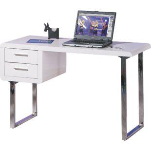 Inter Link Schreibtisch Claude weiss 2 Schubladen - Bild 1