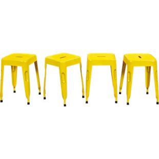 Inter Link Metallhocker Melange gelb  (VPE: 4 Stk) - Bild 1