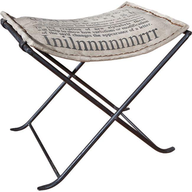 Inter Link Kalinga Sitzhocker Metall, mit Canvas grau - Bild 1