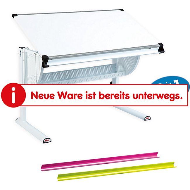 Inter Link Schreibtisch Matts 3 in 1 weiß, pink und grün - Bild 1
