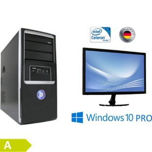 "JOY-IT Desktop Intel Quad-Core Celeron J3455 mit 24"" LED Monitor - Bild 1"