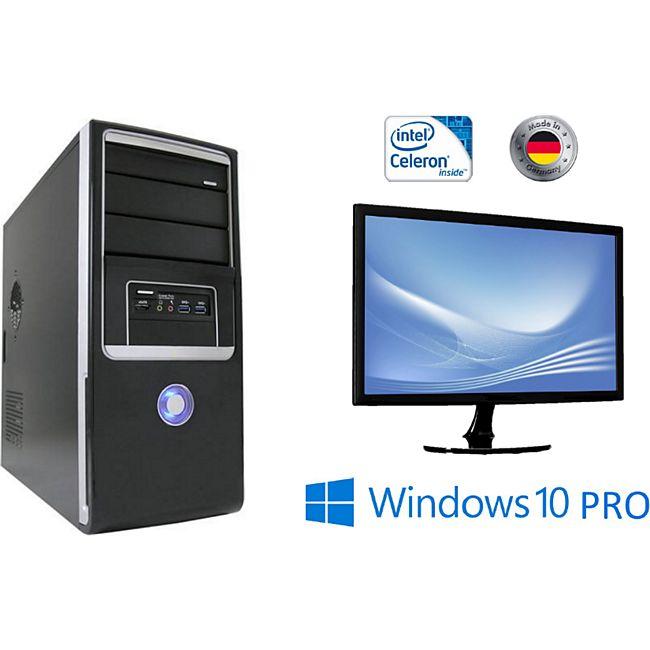 "JOY-IT Desktop Intel Quad-Core Celeron J3455 mit 24"" LED Monitor - Bild 1"