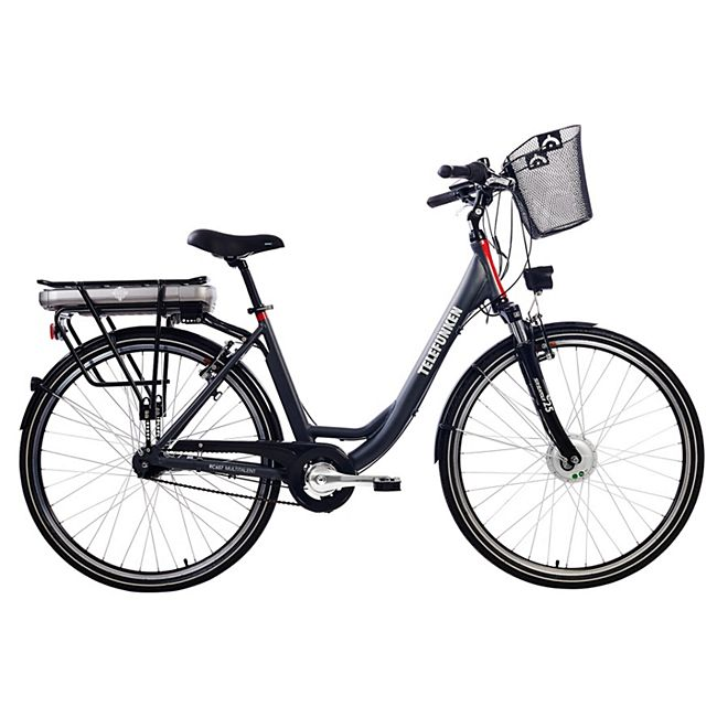 "Telefunken RC657 Multitalent Alu-E-Bike City 28"" 7-Gang Shimano Nexus anthrazit - Bild 1"