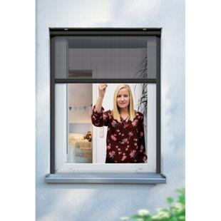 Schellenberg Insektenschutzrollo für Fenster, 100 x 160 cm, anthrazit - Bild 1