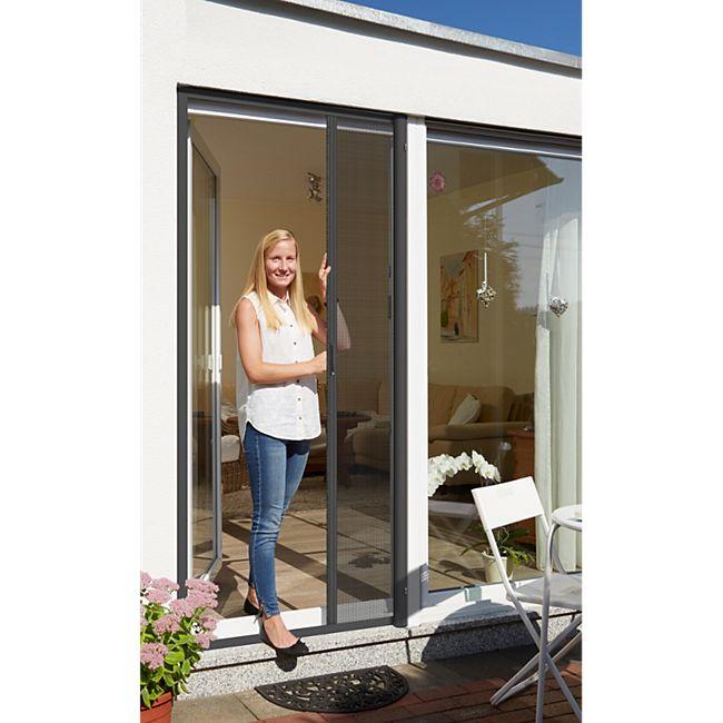 Schellenberg Insektenschutzrollo für Türen, 160 x 225, anthrazit - Bild 1