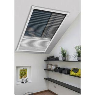Schellenberg Insektenschutz & Verdunklungsplissee für Dachfenster, 114 x 160 cm, weiß - Bild 1