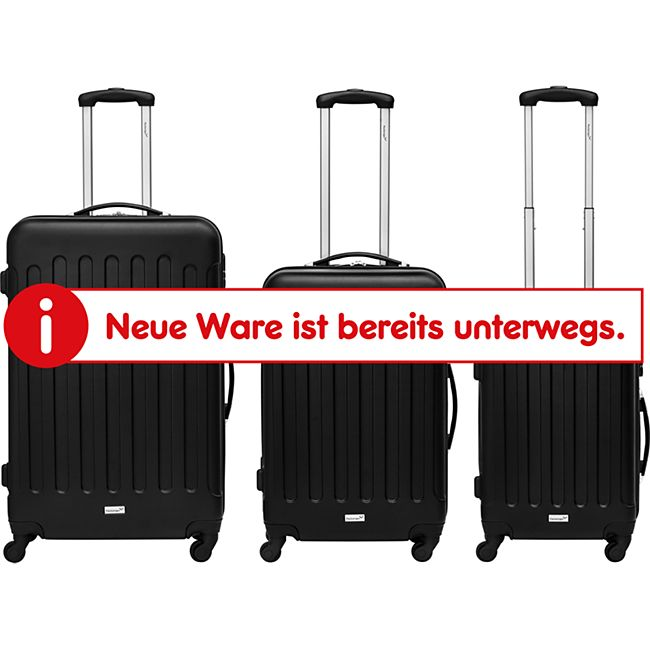 Packenger Travelstar 3er Kofferset, Schwarz - Bild 1