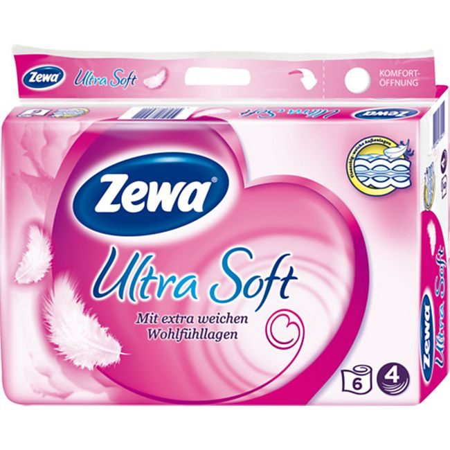 Zewa ultra soft Toilettenpapier 1 x 6 Rollen á 150 Blatt - Bild 1