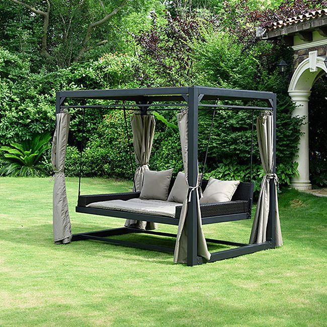Home Deluxe Pavillon Provence mit Bett in Rattan-Optik - Bild 1