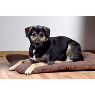 Dobar XXL-Hundebett mit dunkelbraunem Karomuster, großer Schlafplatz für Hunde und Katzen - Bild 1