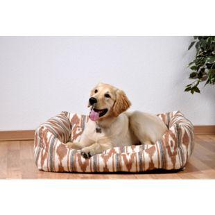 Dobar XXL-Hundebett mit Wendekissen, großer Schlafplatz für Hunde und Katzen beige/braun - Bild 1