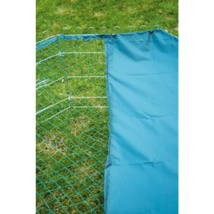 8-eckiges Nylon-Schutznetz für Kleintier-Freigehege, 135 x 135 cm Abdeckung mit Sonnenschutz, grün - Bild 1