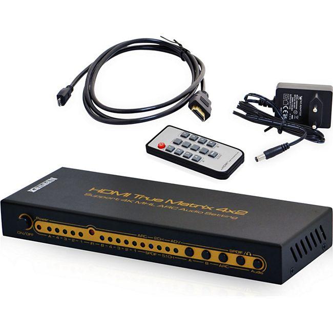 KanaaN UHD-Matrix HDMI 4x2 Switch - Bild 1