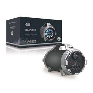 Conceptronic MASSIMO Kabelloser Bluetooth-Lautsprecher,  schwarz - Bild 1