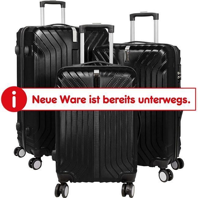 ABS-Kofferset Palma 3-teilig, schwarz - Bild 1