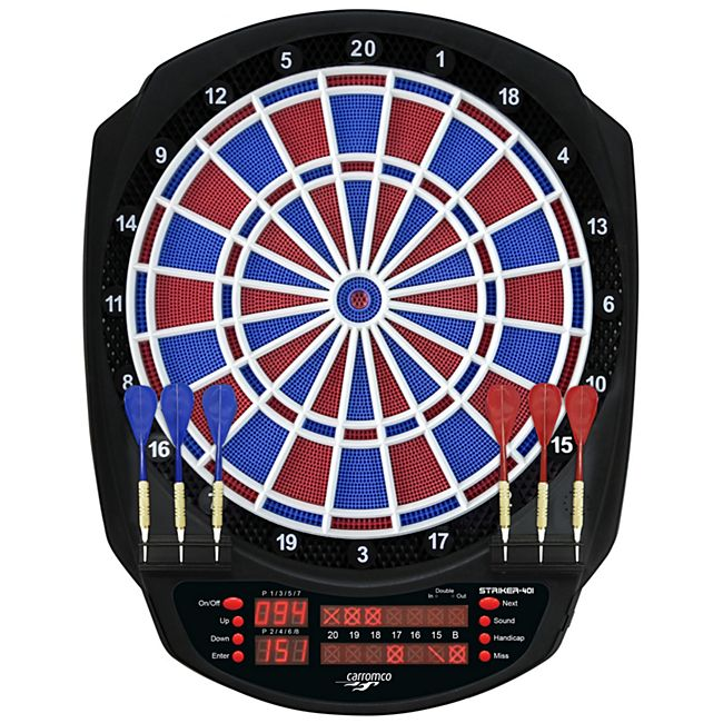 CARROMCO ELEKTRONIK DARTBOARD STRIKER-401, MIT ADAPTER, 2-LOCH ABSTAND - Bild 1