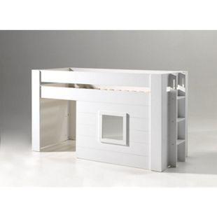 Vipack halbhohes Bett Noah inkl. Vorhang-Set, 90 x 200 cm - Bild 1