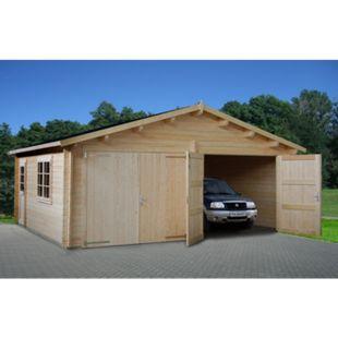 Palmako Roger 28,4 m² Garage mit Holztor - Bild 1