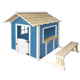 """Home Deluxe Spielhaus """"Der große Palast"""" blau, mit Bank - Bild 1"""