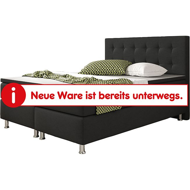 Inter Handels Boxspringbett Köln 140 x 200 cm, schwarz - Bild 1