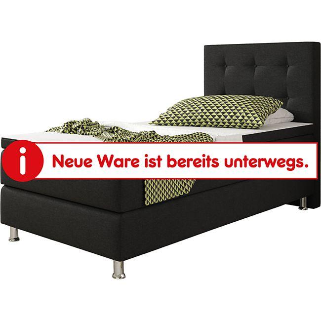Inter Handels Boxspringbett Köln 90 x 200 cm, schwarz - Bild 1