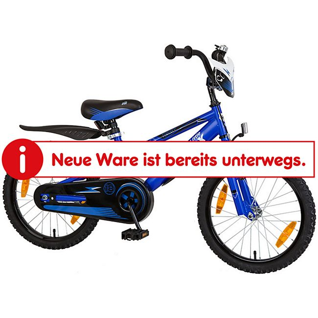 "Bachtenkirch 18"" Kinderfahrrad  - Little-Dax ""TIMMY"", blau matt - Bild 1"