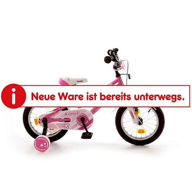 "Bachtenkirch 14"" Kinderfahrrad ""KAWASAKI - KUMA"" pink/weiß - Bild 1"