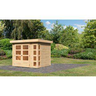 Woodfeeling Gartenhaus Kerko 3, 19 mm naturbelassen - Bild 1