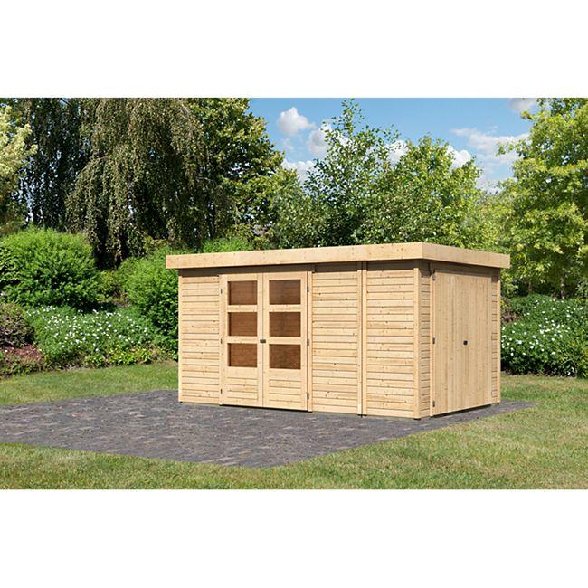 Woodfeeling Gartenhaus Retola 6,  inkl. Anbauschrank naturbelassen - Bild 1