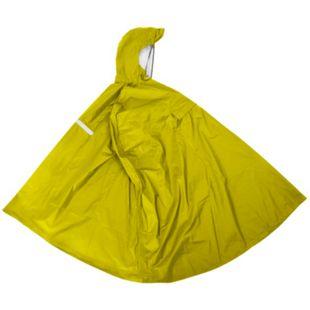 Regenponcho gelb, Gr. L mit integrierter Gürteltasche - Bild 1