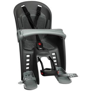 Kindersitz Bilby Junior für Befestigung am vorderen Fahrradrahmen dunkelgrau/silber - Bild 1
