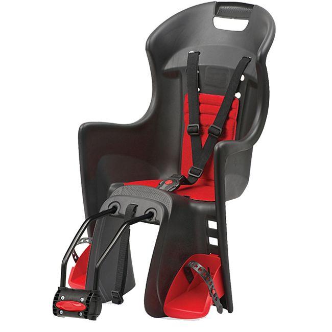 Kindersitz Boodie FF, schwarz/rot, Rahmenbefestigung - Bild 1