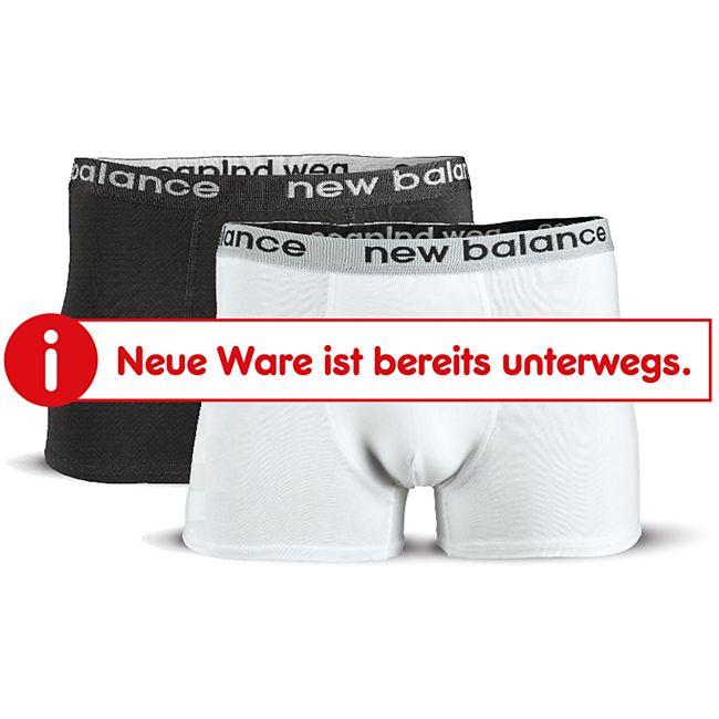 New Balance Boxer Shorts 2er schwarz/weiß Gr. M - Bild 1
