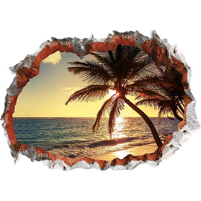 Wandtattoo 3D Strand mehrfarbig - Bild 1