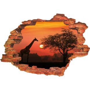 Wandtattoo 3D Savanne mehrfarbig - Bild 1