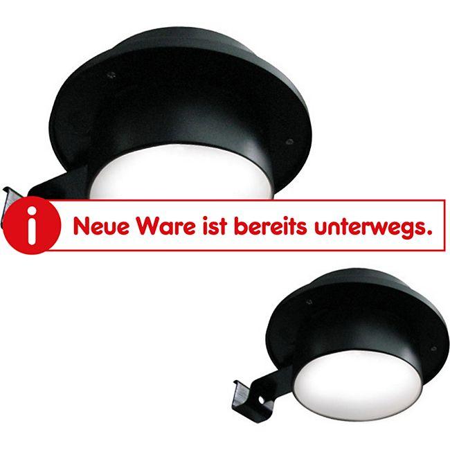 Mauk Solarlicht  Wegbeleuchtung für die Dachrinne (-nmontage) (schwarz) 3 x LED weiß Größe: 12x6cm - Bild 1