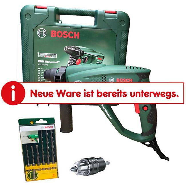 Bosch PBH Universal+ 2500 SRE Bohrhammer inkl. 6-tlg. SDS-plus Bohrer-Set - Bild 1