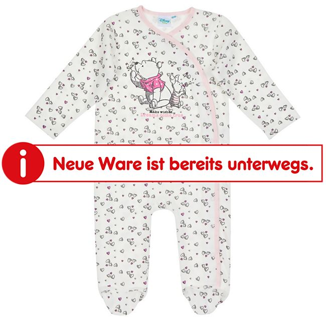 Winnie the Pooh Baby Schlafoverall - Mädchen: weiß Gr. 62/68 - Bild 1