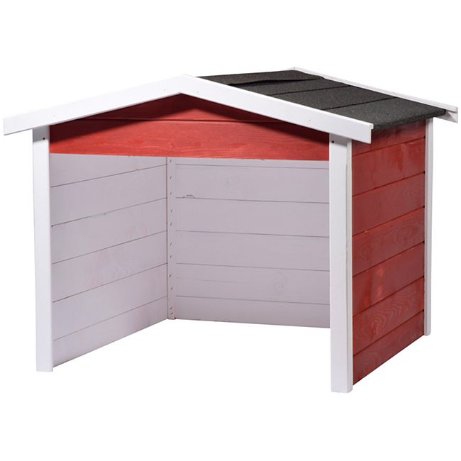 Dobar 56199e Mährobotergarage, Holz, rot - Bild 1