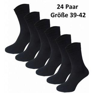 Garcia Pescara 24 Paar Classic Socken aus Baumwolle in schwarz, Größe 39-42 - Bild 1
