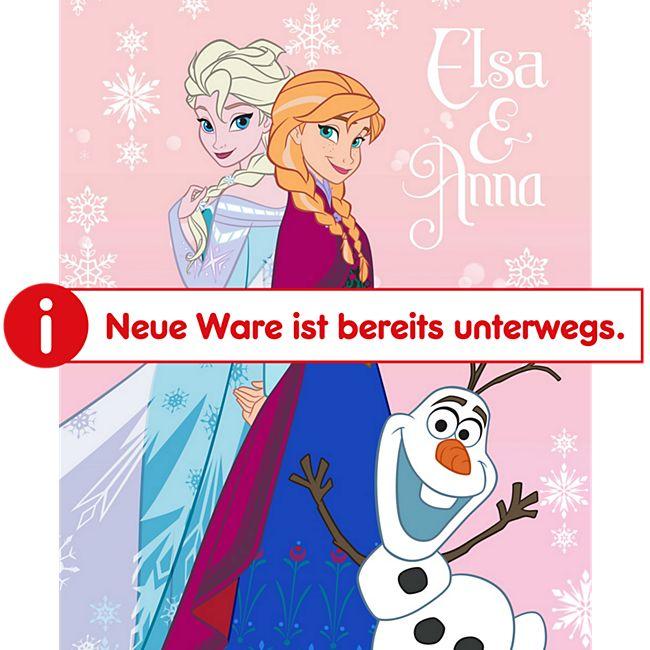 Kinder Fleecedecke - Eiskönigin mit Olaf rosa - Bild 1