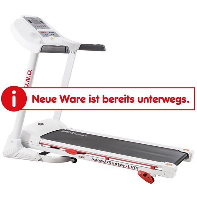 Motive Fitness by U.N.O. Laufband Speed Master 1.8M weiß/silber - Bild 1