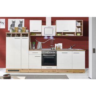 Respekta Küchenzeile BEKB310EWC 310 cm Weiß-Wildeiche Nachbildung - Bild 1