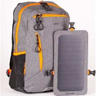 SunnyBag Explorer+ Solarrucksack, grau-orange - Bild 1