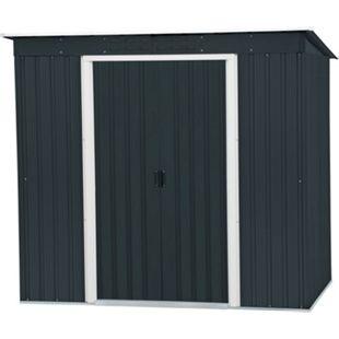 Tepro Metallgerätehaus Pent Roof anthrazit 6x4 - Bild 1