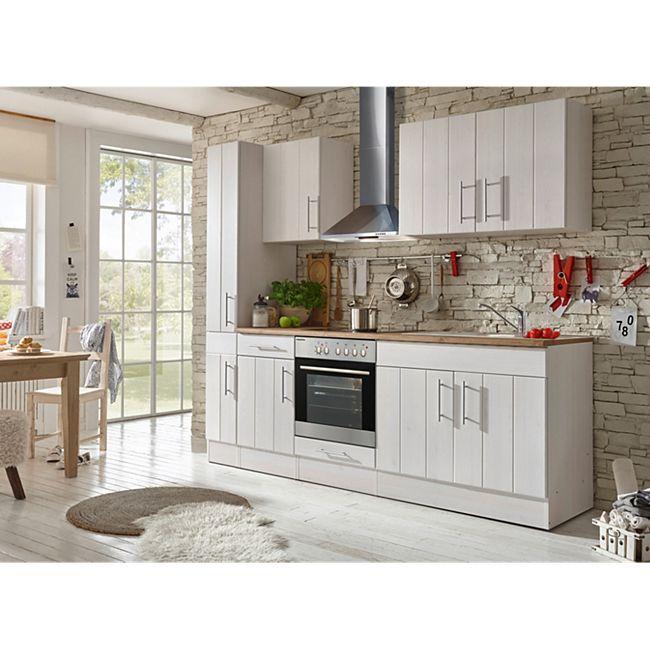 Respekta Premium Küchenzeile BERP240LHWC 240 cm Weiß-Lärche Nachbildung - Bild 1