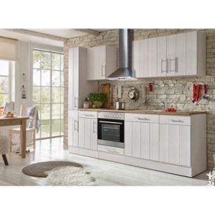 Respekta Premium Küchenzeile BERP250LHWC 250 cm Weiß-Wildeiche Nachbildung - Bild 1